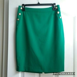 Green Pencil Skirt - The Limited